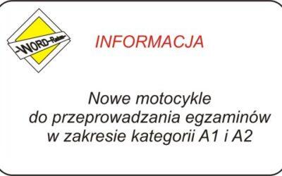 Nowe motocykle